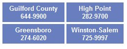 Four Convenient Locations in Guilford County, High Point, Greensboro and Winston Salem